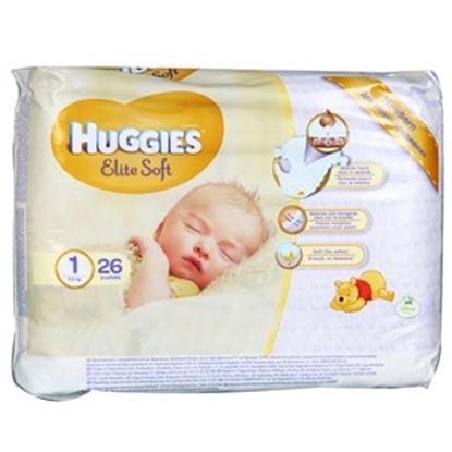 Attēls no Autiņbiksītes Huggies Elite Soft jaundzim.2-5kg 26gab.