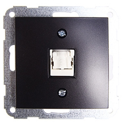 Picture of Data rozete Fiorena 1x RJ45 antracīta
