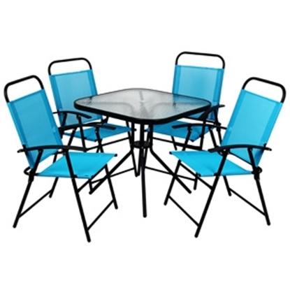 Attēls no Dārza mēbeļu komplekts galds(80x80cm) + 4 krēsli