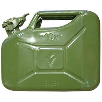 Picture of Degvielas kanna 10l zaļa, 34.5x16.5x27.5cm 3kg