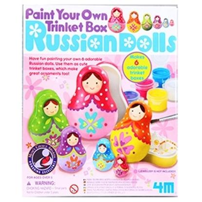 Attēls no Izkrāsojama lelle Russian Dolls