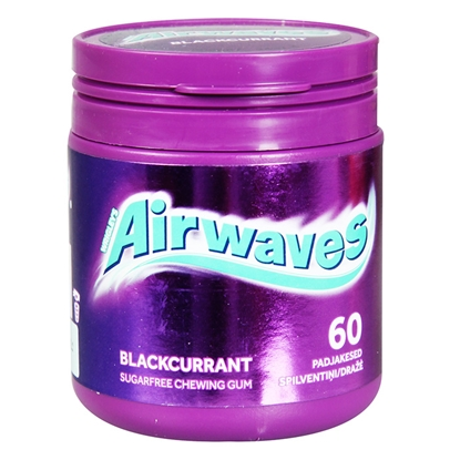 Picture of Košļ.gumija Airwaves Blackcurrant Canister 60gab