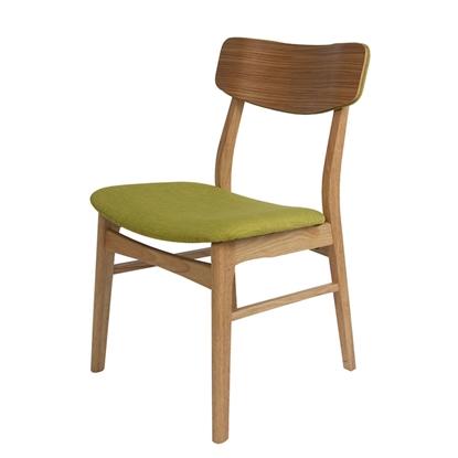 Изображение Krēsls JAXTON 49x53.5xH80cm ozola/zaļš