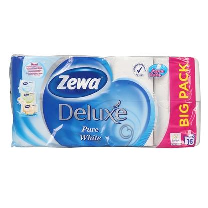 Изображение Tual.papīrs Zewa Deluxe Pure white 3-kārt.16 ruļļi