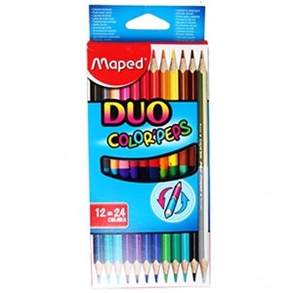 Изображение Krāsu zīmuļi Maped Color`Peps Duo 12-krāsas