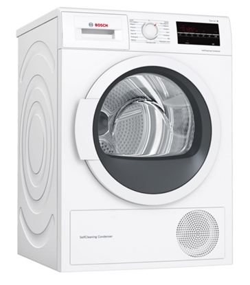 Attēls no Bosch Dryer Machine WTW85L48SN  Energy efficiency class A++, Condensed, 8 kg, Condensation, LED, Depth 60 cm, White, SelfCleaning Condenser