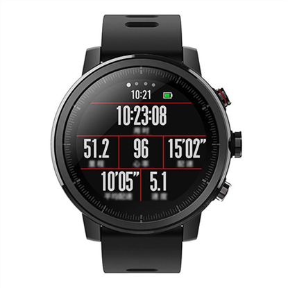 Picture of Amazfit Smart Watch Stratos Wi-Fi, Activity Tracker, Touchscreen, Bluetooth, Heart rate monitor, Black, GPS (satellite), Black, Waterproof, 50 m