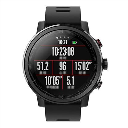 Attēls no Amazfit Smart Watch Stratos Wi-Fi, Activity Tracker, Touchscreen, Bluetooth, Heart rate monitor, Black, GPS (satellite), Black, Waterproof, 50 m