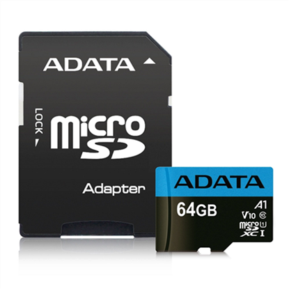 Picture of ADATA 64GB Micro SDXC V10 85MB/s + Ad.