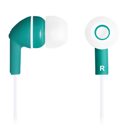 Attēls no CANYON Stereo earphones with micophone, Green
