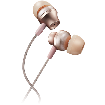 Picture of CANYON Stereo earphones with microphone, metallic shell, 1.2M, rose