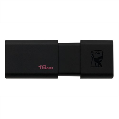 Attēls no Zibatmiņa Kingston DataTraveler100 Black 16GB