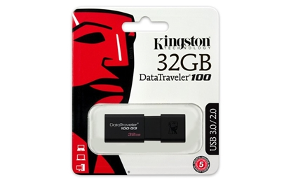 Attēls no Zibatmiņa Kingston DataTraveler100 Black 32GB