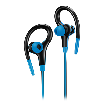 Attēls no CANYON   Stereo sport earphones with microphone, cable length 1.2m, Blue