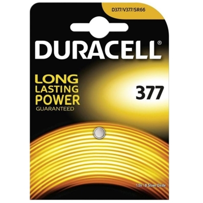 Picture of Duracell D377 (SR626SW, AG4) Blister Pack 1pcs.