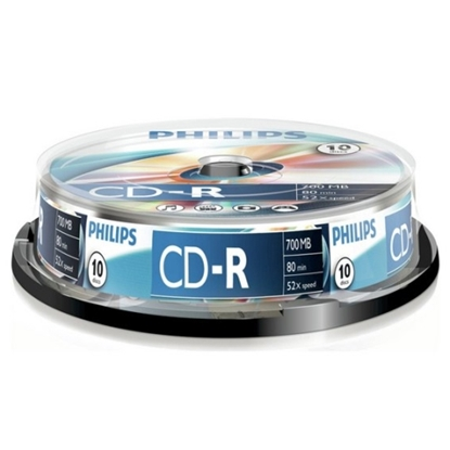 Attēls no Philips CD-R 80 700mb cake box 10
