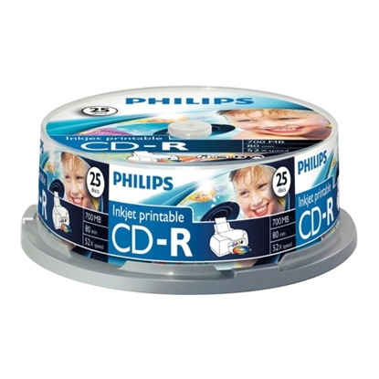 Attēls no PHILIPS CD-R 80 700MB CAKE BOX 25