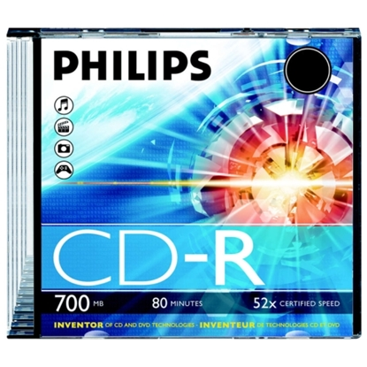 Attēls no Philips CD-R 80 700mb Jewel case white printable surface