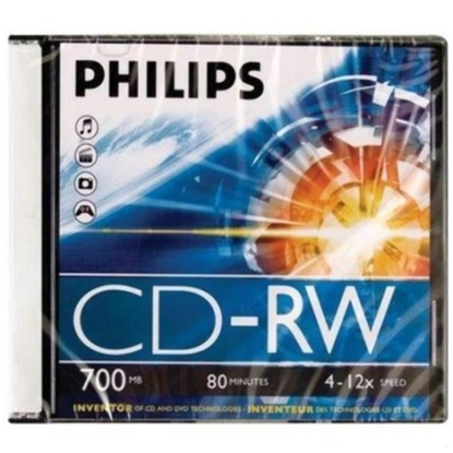 Attēls no Philips CD-RW700 4x-12x, jewel case