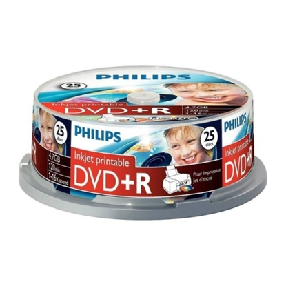 Attēls no Philips DVD+R 4.7GB CAKE BOX 25