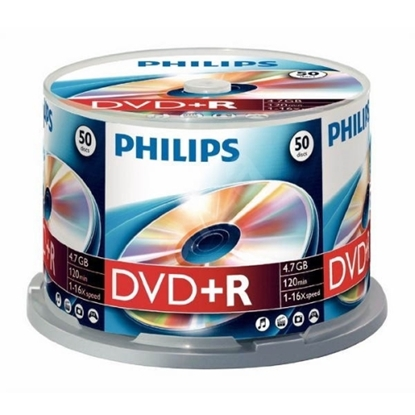 Attēls no PHILIPS DVD+R 4.7GB CAKE BOX 50