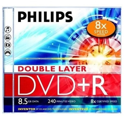 Picture of PHILIPS DVD+R DL 8.5GB JEWEL CASE