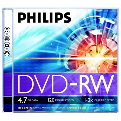 Attēls no Philips DVD-RW 4.7 GB jewel case