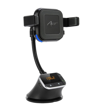 Attēls no ART CAR TRANSMITER FM 4-in-1, handsfree kit, charger ind., handle FM-09BT