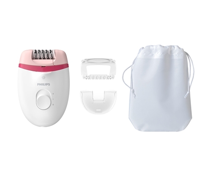 Attēls no Philips Satinelle Essential Corded compact epilator BRE255/00 With opti-light for legs + 3 accessories