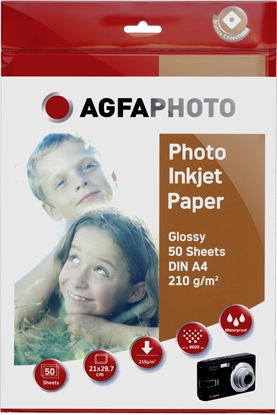 Attēls no AgfaPhoto Photo Glossy Paper 210 g A 4 50 Sheets