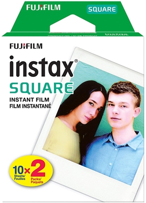 Picture of 1x2 Fujifilm Instax Square Film white frame