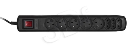 Изображение Activejet APN-8G/1,5M-BK power strip with cord