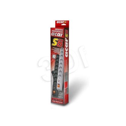 Изображение ACAR S8 power extension 1.5 m 8 AC outlet(s) Indoor Black