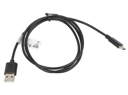 Picture of Cable Lanberg CA-USBO-10CC-0010-BK (USB 2.0 type A M - USB type C M; 1m; black color)