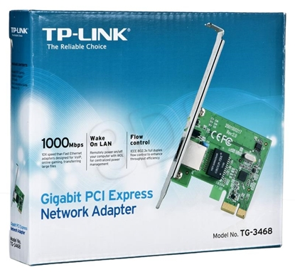 Изображение Card network TP-LINK TG-3468 (PCI; 1x 10/100/1000Mbps)