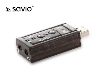 Picture of Card sound SAVIO ak-01 (External; USB 2.0)