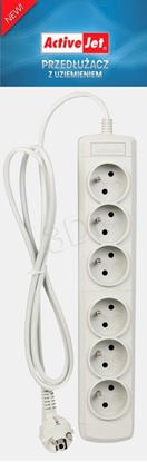 Изображение Activejet 6GNU - 3M - S power strip with cord