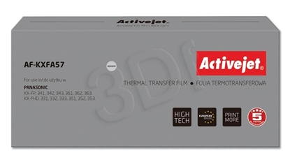 Attēls no Foil ink film ribbon Activejet AF-KXFA57 (replacement Panasonic KX-FA57; Supreme; black)