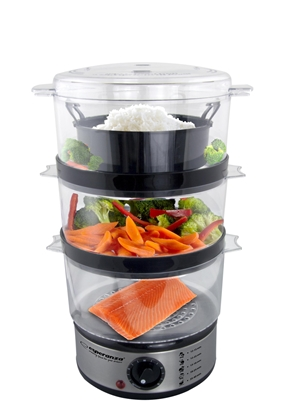 Picture of Food steamer Esperanza STEAM VOLCANO EKG009 (7 litres; transparent color)