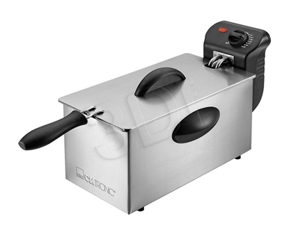 Picture of Clatronic FR 3586 Fryer 3 L Silver,Stainless steel Stand-alone 2000 W