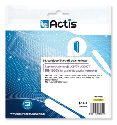 Attēls no Actis KB-1000Y ink cartridge for Brother printer LC1000/LC970 Yellow