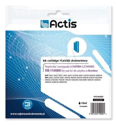 Attēls no Actis KB-1100Bk ink cartridge for Brother printer LC1100/LC980 black