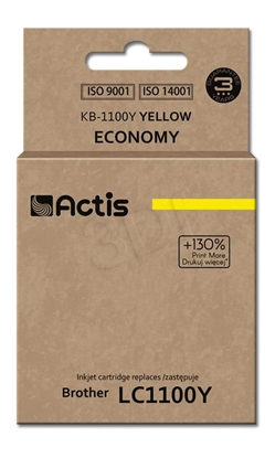 Attēls no Actis KB-1100Y ink cartridge for Brother printer LC1100/LC980 yellow