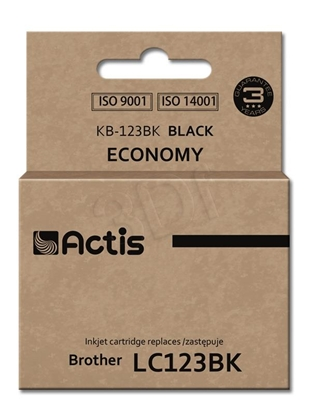 Изображение Ink ACTIS KB-123Bk (replacement Brother LC123BK/LC121BK; Standard; 15 ml; black)