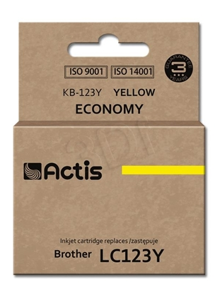 Изображение Ink ACTIS KB-123Y (replacement Brother LC123Y/LC121Y; Standard; 10 ml; yellow)
