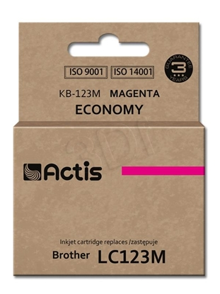 Изображение Ink ACTIS KB-123M (replacement Brother LC123M/LC121M; Standard; 10 ml; Magenta)