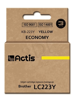 Изображение Actis ink cartridge KB-223Y for Brother, LC223Y comaptible standard 10ml yellow