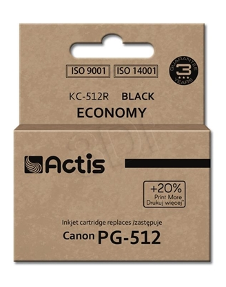 Изображение Actis KC-512R black ink cartridge for Canon (Canon PG-512 replacement) standard