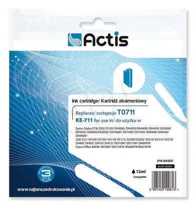 Изображение Ink ACTIS KE-711 (replacement Epson T0711, T0891, T1001; Standard; 15 ml; black)