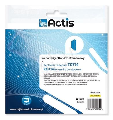 Изображение Ink ACTIS KE-714 (replacement Epson T0714, T0894, T1004; Standard; 13.5 ml; yellow)